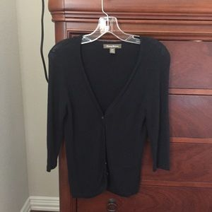 Tommy Bahama light weight black v-neck cardigan.